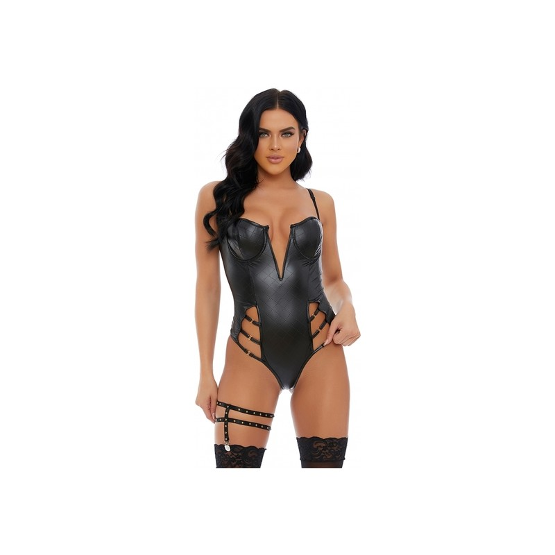 DISTRESS WITH THE BEST FAUX LEATHER BODY NEGRO de la marca FORPLAY