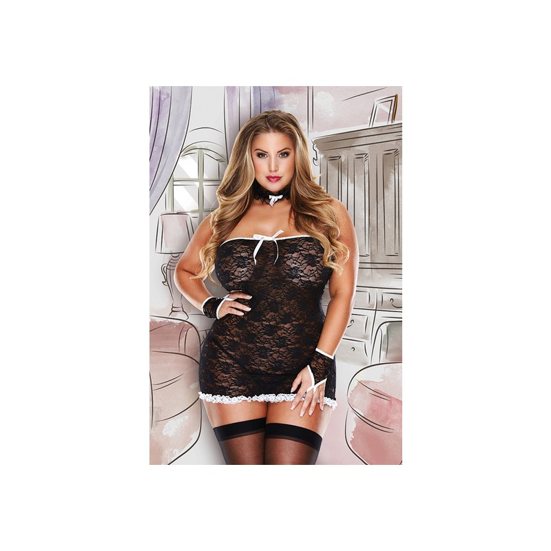 ROOM SERVICE FRENCH MAID COSTUME- PICARDIAS CRIADA de la marca BACI LINGERIE