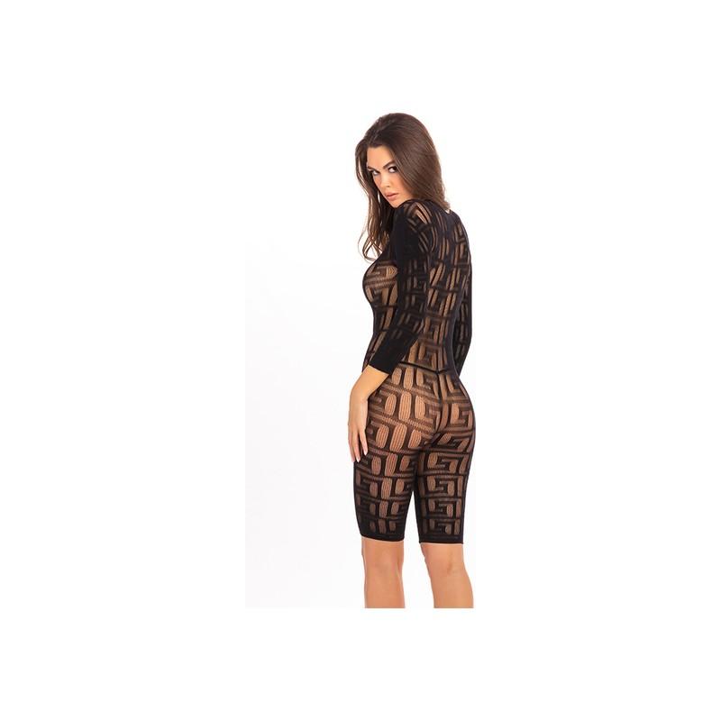 EXOTIC GEOMETRY BODY DE MALLA - NEGRO de la marca RENE ROFE