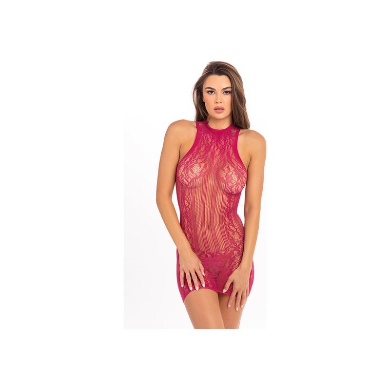 RECKLESS LACE MINI DRESS ROSA de la marca RENE ROFE