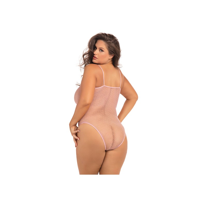 UNDONE SEE THROUGH BODY SEMITRANSPARENTE - ROSA de la marca RENE ROFE