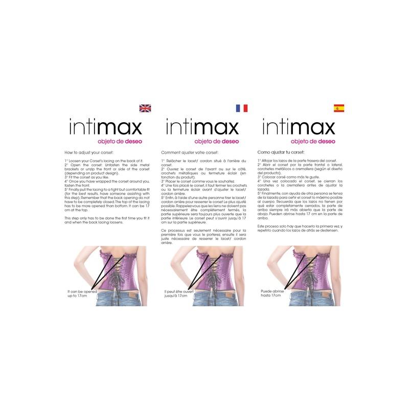 INTIMAX CORSET SHOW NEGRO