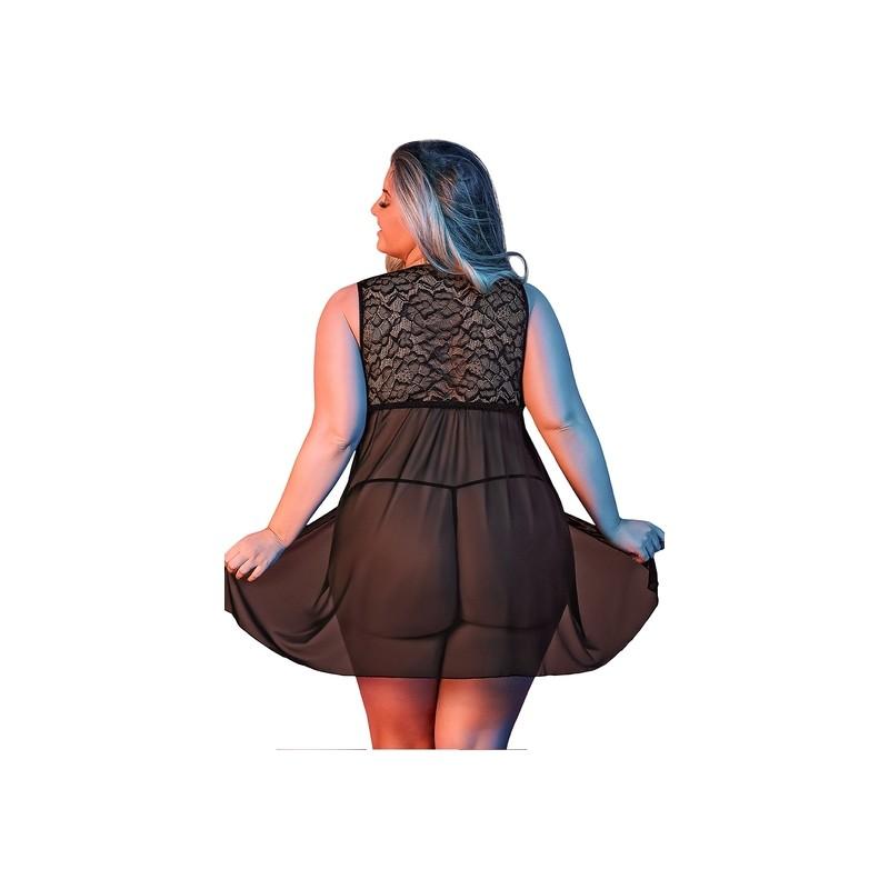 SEXYTIME - PICARDIAS APERTURA DELANTERA - NEGRO de la marca MAGIC SILK