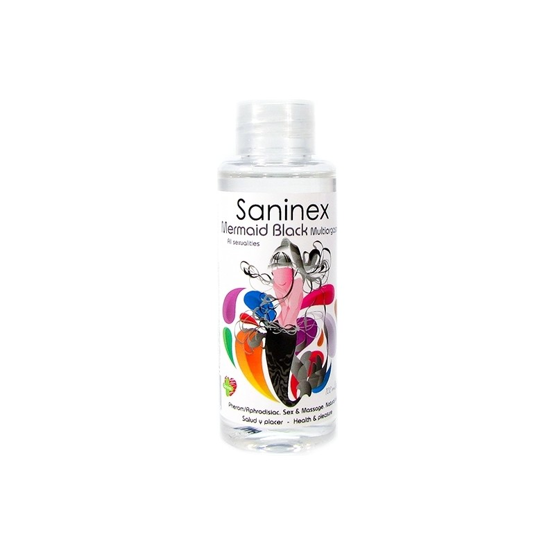 SANINEX MERMAID BLACK MULTIORGASMIC - SEX & MASSAGE OIL 100ML de la marca SANINEX