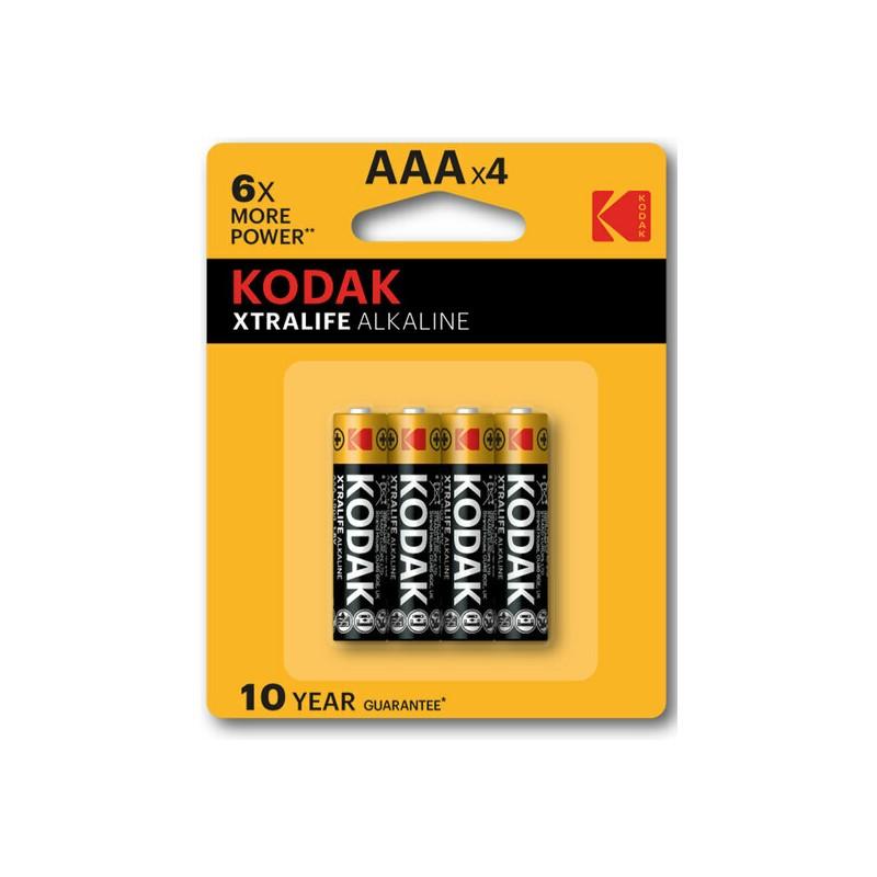 KODAK XTRALIFE ALKALINE AAA - 4UDS de la marca KODAK