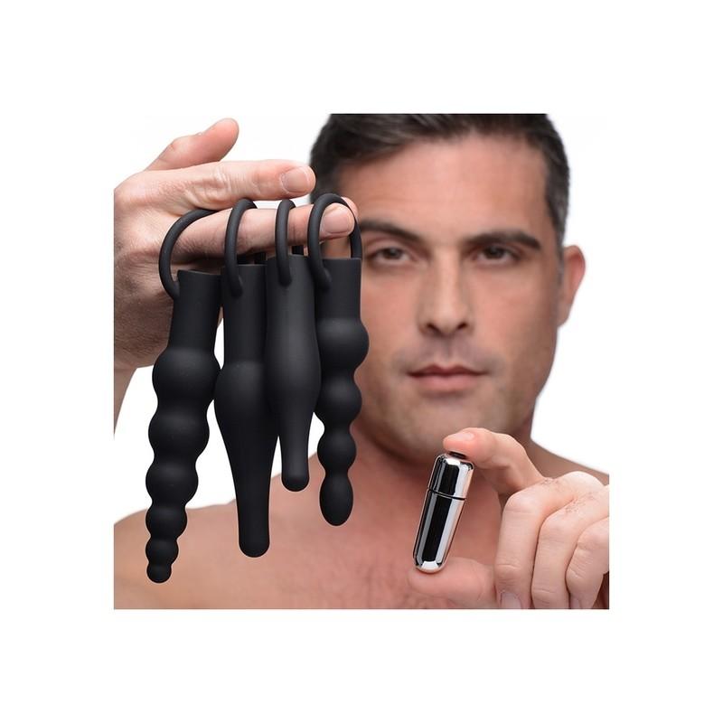 3X PREMIUM RINGED RIMMERS KIT DE ENTRENAMIENTO ANAL - NEGRO de la marca XR BRANDS