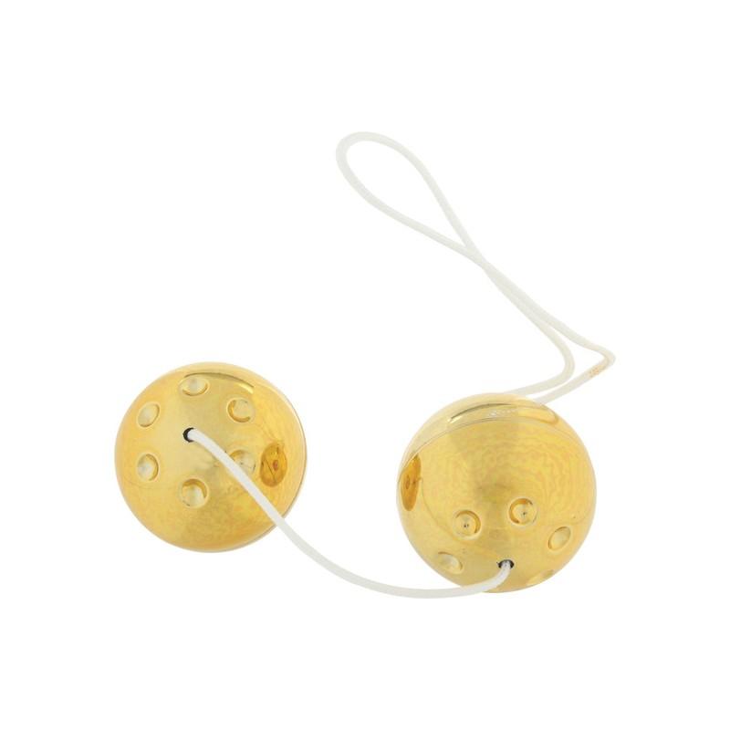 GOLD METAL BOLAS ESTIMULADORAS - 2uds de la marca SEVEN CREATIONS
